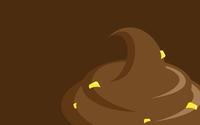Yellow candies in chocolate ice cream wallpaper 2560x1600 jpg