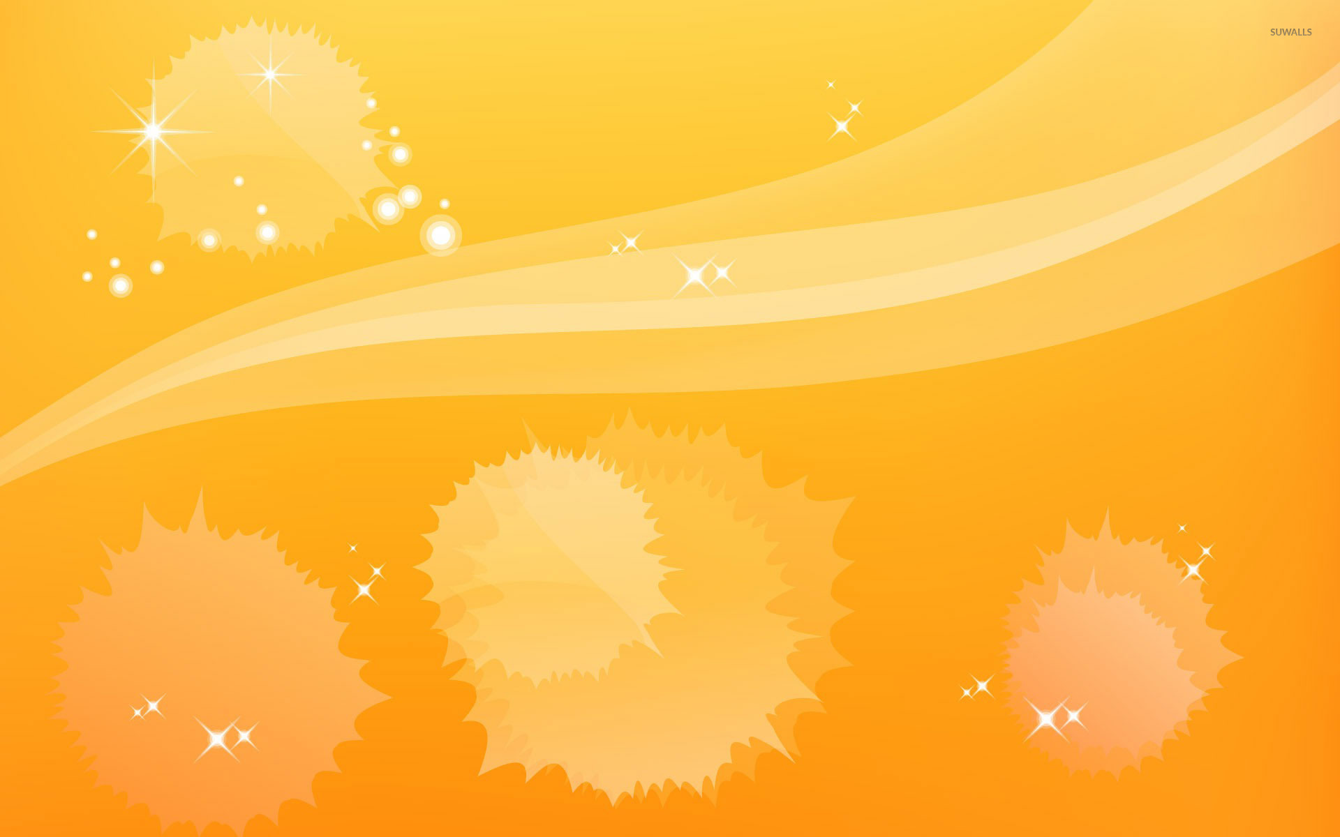 yellow sparkling splashes wallpaper vector wallpapers