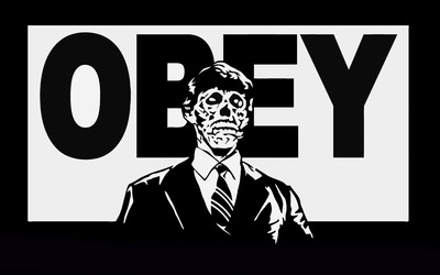 Zombie Obey wallpaper
