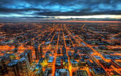 Amazing Chicago street lights wallpaper