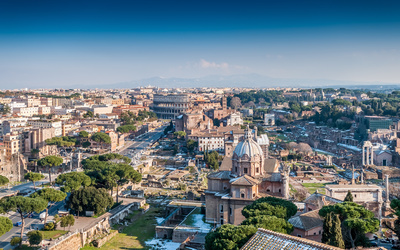 Amazing view of the center of Rome wallpaper