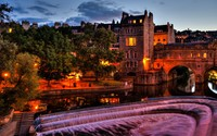 Arch bridge in Bath wallpaper 1920x1200 jpg