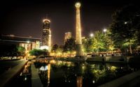 Atlanta at night wallpaper 1920x1200 jpg