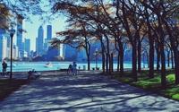 Autumn park in Chicago wallpaper 1920x1200 jpg