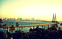 Bandra–Worli Sea Link wallpaper 1920x1200 jpg
