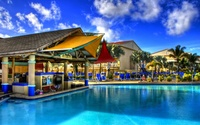 Bar by the pool wallpaper 2560x1600 jpg