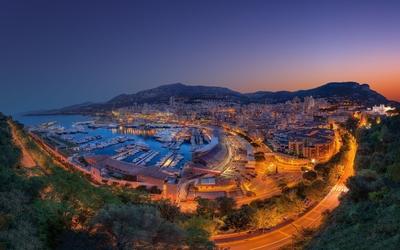 Beautiful lit Monte Carlo wallpaper