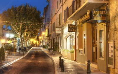 Beautiful street in France wallpaper