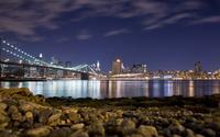 Brooklyn Bridge at night wallpaper 1920x1080 jpg