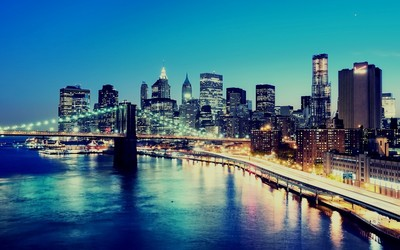 Brooklyn Bridge, Manhattan Wallpaper