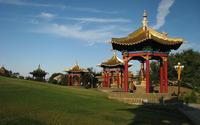 Buddha Shakyamuni Golden Abode wallpaper 2880x1800 jpg