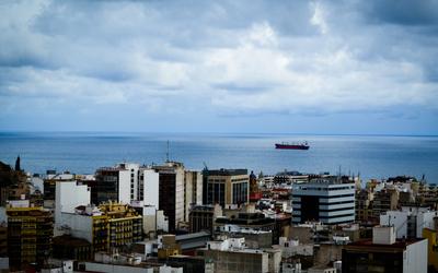 Building on the coast of Alicante Wallpaper