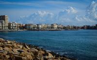 Buildings along El Cura beach wallpaper 3840x2160 jpg