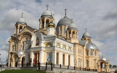 Byzantine architecture church Wallpaper