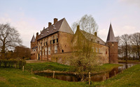 Castle of Hernen, Netherlands wallpaper 1920x1200 jpg
