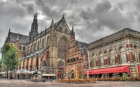 Cathedral of Saint Bavo in Haarlem wallpaper 1920x1200 jpg