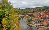 Cesky Krumlov in the Czech Republic wallpaper 2880x1800 jpg