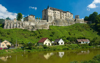 Cesky Sternberk Castle wallpaper 1920x1200 jpg