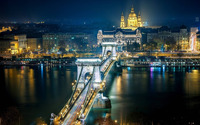 Chain Bridge, Budapest wallpaper 1920x1080 jpg