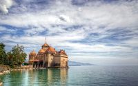 Chateau de Chillon wallpaper 1920x1200 jpg