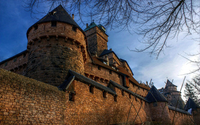 Chateau du Haut-Koenigsbourg, France wallpaper