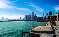 Chicago and lake Michigan wallpaper 1920x1200 jpg