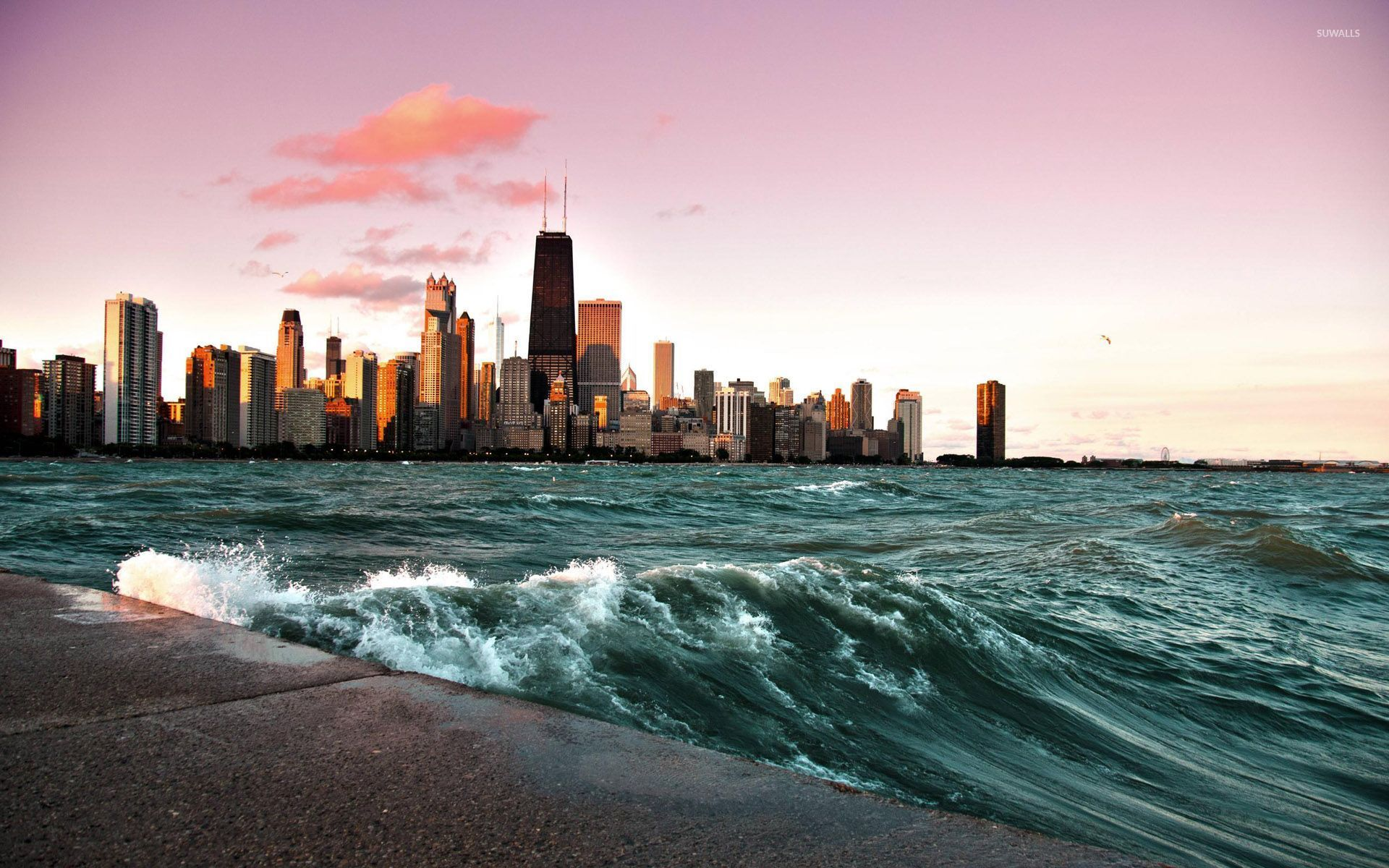 Chicago and lake Michigan [2] wallpaper