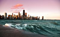 Chicago and lake Michigan [2] wallpaper 1920x1200 jpg