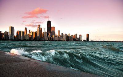 Chicago and lake Michigan [2] wallpaper