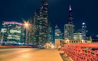 Chicago at night [2] wallpaper 2560x1600 jpg
