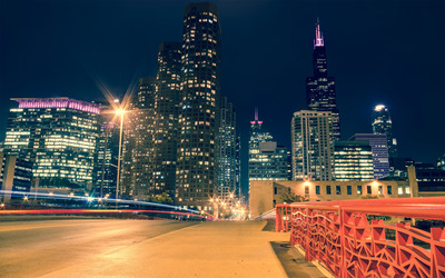 Chicago at night [2] wallpaper