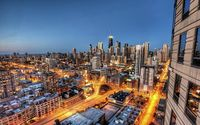 Chicago lights wallpaper 1920x1200 jpg