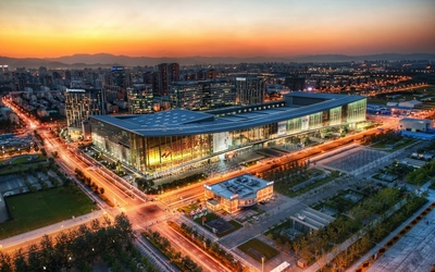 China National Convention Center in Beijing wallpaper