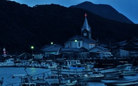 Church in the harbor wallpaper 2560x1600 jpg