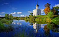 Church of the Intercession on the Nerl wallpaper 1920x1200 jpg