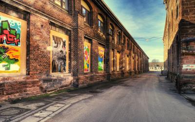 City alley wallpaper