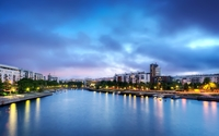 City by the river wallpaper 1920x1200 jpg