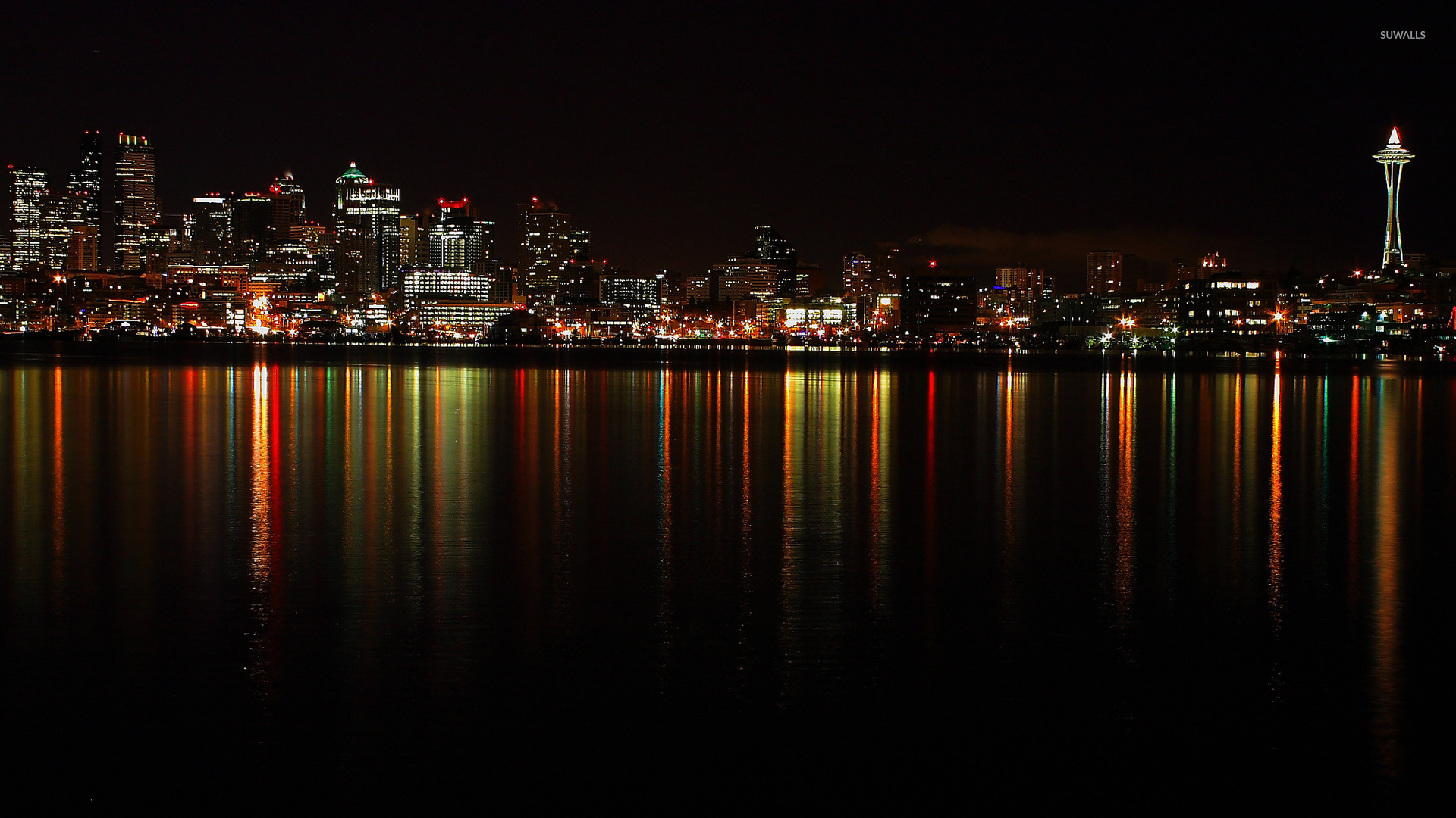 City lights at night wallpaper - World wallpapers - #47014