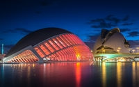 City of Art and Sciences in Valencia wallpaper 1920x1080 jpg