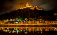 Cochem castle at night wallpaper 2560x1440 jpg