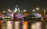 Colorful lights on the bridge wallpaper 2560x1600 jpg