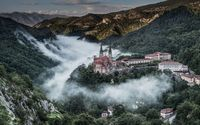 Covadonga cathedral, Spain wallpaper 2560x1440 jpg