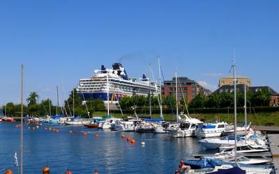 Cruise ship in Denmark wallpaper