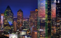 Dallas at night wallpaper 2560x1600 jpg