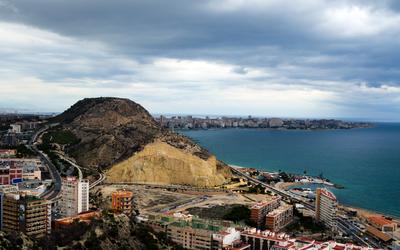Dark clouds over the Alicante coast wallpaper