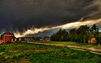 Dark sky above the town wallpaper 2560x1600 jpg
