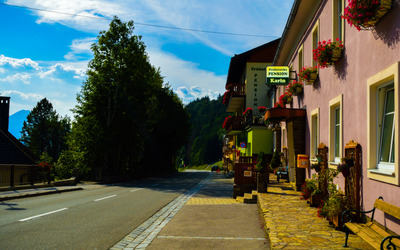 Deserted street in Annaberg Wallpaper