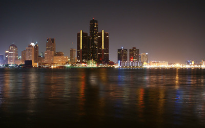Detroit Skyline wallpaper