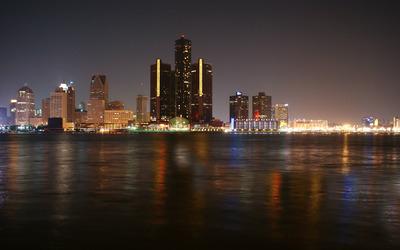 Detroit Skyline wallpaper