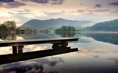 Dock at the lake Wallpaper
